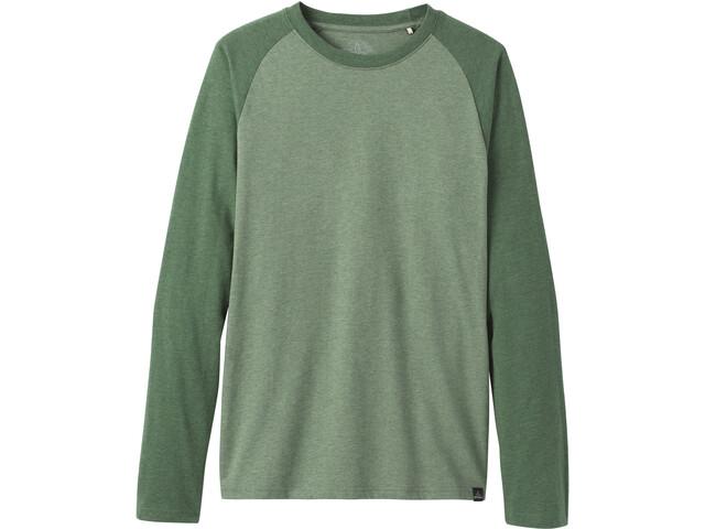 Prana Baseball Raglan Longsleeve T-Shirt Heren, groen